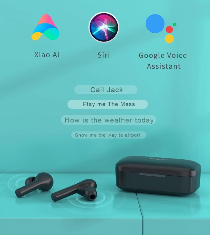 Steruj słuchawkami qcy t5 za pomocą głosu